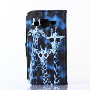 Standy peňaženkové puzdro pre Samsung Galaxy Core Prime - žirafí mafie - 2