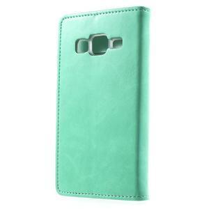 Moon PU kožené pouzdro na mobil Samsung Galaxy Core Prime - azurové - 2