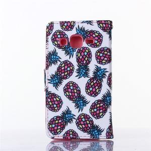 Standy peňaženkové puzdro pre Samsung Galaxy Core Prime - ananasy - 2