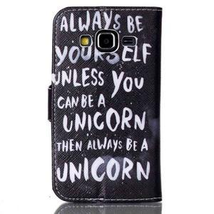 Emotive peňaženkové puzdro pre Samsung Galaxy Core Prime - unicorn - 2
