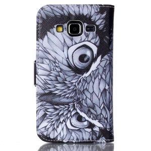 Emotive peňaženkové puzdro pre Samsung Galaxy Core Prime - sova - 2