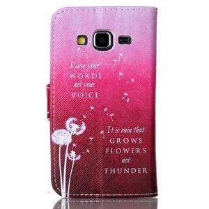 Emotive peňaženkové puzdro pre Samsung Galaxy Core Prime - púpavy - 2