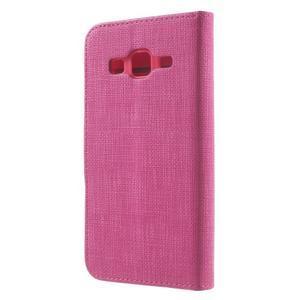 Clothy peněženkové pouzdro na Samsung Galaxy Core Prime - rose - 2
