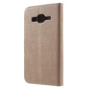 Clothy peňaženkové puzdro pre Samsung Galaxy Core Prime - champagne - 2