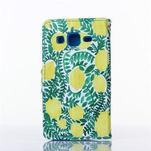 Standy peněženkové pouzdro na Samsung Galaxy Core Prime - citronovník - 2