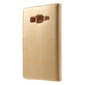 Moonleather PU kožené puzdro pre Samsung Galaxy Core Prime - zlaté - 2