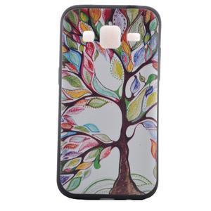 Hardy gélový obal pre mobil Samsung Galaxy Core Prime - malovaný strom - 2