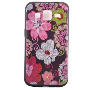 Hardy gélový obal pre mobil Samsung Galaxy Core Prime - kvetinová koláž - 2