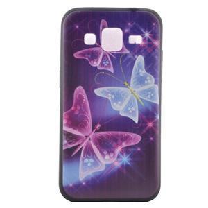 Hardy gélový obal pre mobil Samsung Galaxy Core Prime - čarovné motýle - 2