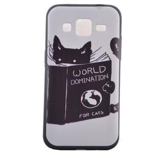 Hardy gélový obal pre mobil Samsung Galaxy Core Prime - mačička čte - 2