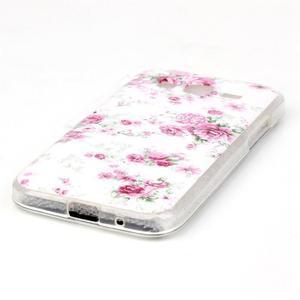 Softy gelový obal Samsung Galaxy Core Prime - květiny - 2