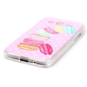 Softy gélový obal Samsung Galaxy Core Prime - makrónky - 2