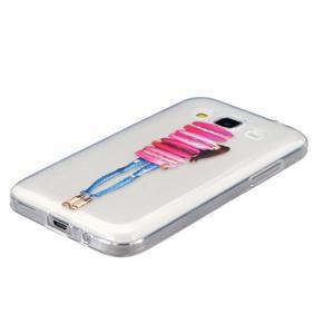 Transparentní gelový obal na Samsung Galaxy Core Prime - makrónky - 2