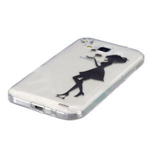 Transparentný gélový obal pre Samsung Galaxy Core Prime - dievča pampelišek - 2