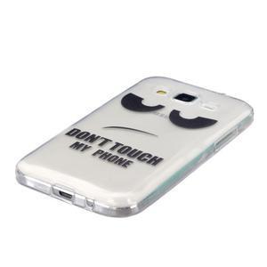 Transparentný gélový obal pre Samsung Galaxy Core Prime - nedotýkať sa - 2