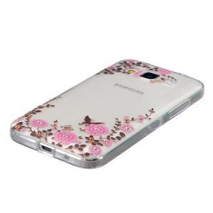 Transparentný gélový obal pre Samsung Galaxy Core Prime - kvety - 2