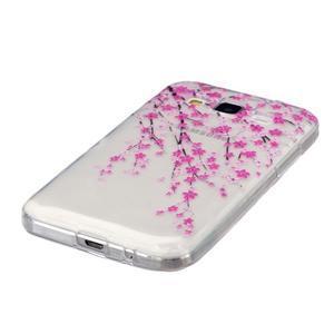 Transparentný gélový obal pre Samsung Galaxy Core Prime - kvitnúca slivka - 2