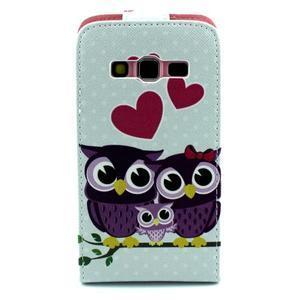 Flipové puzdro pre mobil Samsung Galaxy Core Prime - zamilované sovy - 2