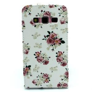 Flipové puzdro pre mobil Samsung Galaxy Core Prime - kvety - 2