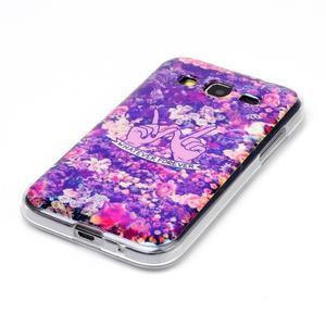 Bluray gelový obal s odlesky na Samsung Galaxy Core Prime - květiny - 2