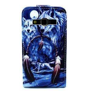 Flipové puzdro pre mobil Samsung Galaxy Core Prime - magický vlci - 2