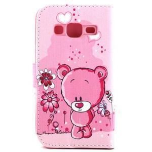 Medvídek peňaženkové puzdro pre Samsung Galaxy Core Prime - 2