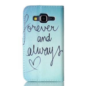 Knížkové pouzdro na Samsung Galaxy Core Prime - love - 2
