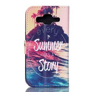 Knížkové puzdro pre Samsung Galaxy Core Prime - letná story - 2