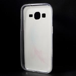 Ultratenký slim obal na Samsung Galaxy Core Prime - peříčko - 2
