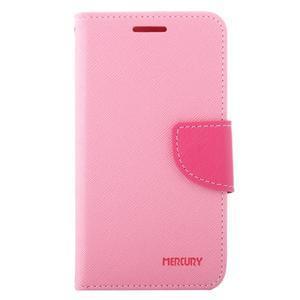 Diary PU kožené puzdro pre Samsung Galaxy J1 (2016) - ružové - 2