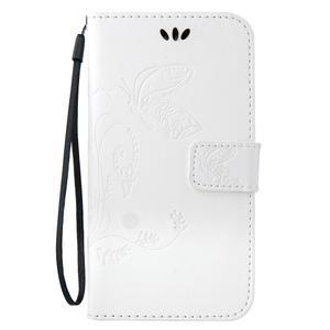 Magicfly PU kožené puzdro pre mobil Samsung Galaxy J1 (2016) - biele - 2