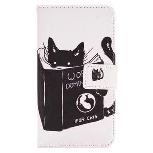 Emotive koženkové puzdro pre Samsung Galaxy J1 (2016) - mačka - 2