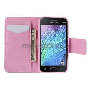 Zapínací puzdro pre Samsung Galaxy J1 - fialová púpava - 2