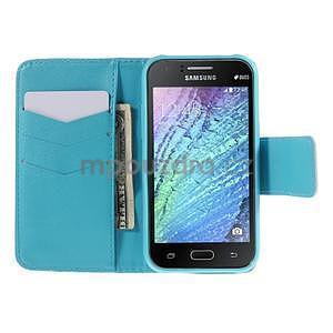 Zapínací puzdro pre Samsung Galaxy J1 - vodní kvetina - 2