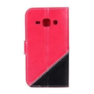 Peňaženkové puzdro Diagonal na Samsung Galaxy J1 - rose/čierné - 2