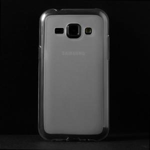 Matný gélový obal na Samsung Galaxy J1 - biely - 2