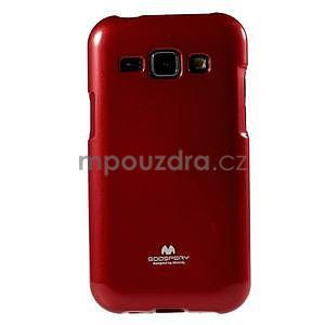 Červený gélový obal pre Samsung Galaxy J1 - 2