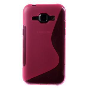 Rose gélový s-line obal Samsung Galaxy J1 - 2