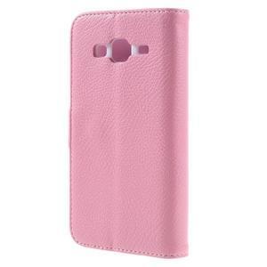 High PU kožené pouzdro na mobil Samsung Galaxy J3 (2016) - růžové - 2