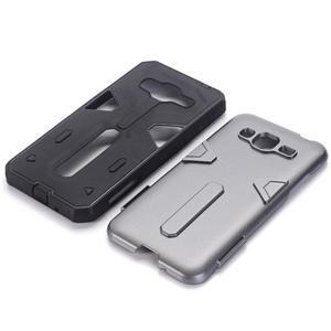High outdoor odolný kryt pre mobil Samsung Galaxy J3 (2016) - šedý - 2