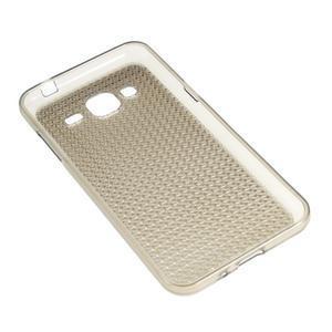 Diamond gélový obal pre mobil Samsung Galaxy J3 (2016) - šedý - 2