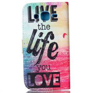 Pictu peněženkové pouzdro na Samsung Galaxy J5 - love - 2