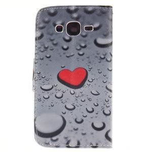 Standy peňaženkové puzdro pre Samsung Galaxy J5 - srdca - 2