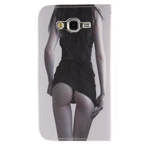 Standy peněženkové pouzdro na Samsung Galaxy J5 - sexy dívka - 2