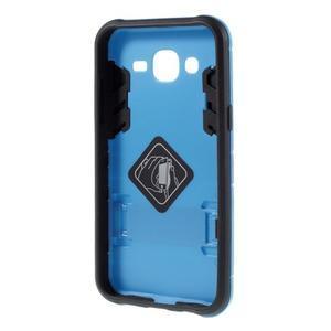 Odolný kryt 2v1 so stojanom pre Samsung Galaxy J5 - modrý - 2