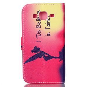Pictu peňaženkové puzdro pre Samsung Galaxy J5 - víla - 2