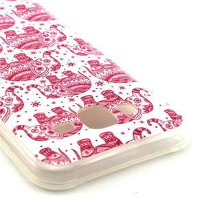 Imda gélový obal pre mobil Samsung Galaxy J5 - ružoví slony - 2