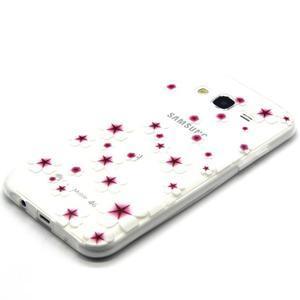 Trasnparent gelový obal na Samsung Galaxy J5 - květinky - 2