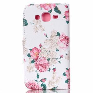 Pictu peňaženkové puzdro pre Samsung Galaxy J5 - kvety - 2