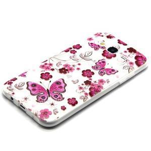 Trasnparent gelový obal na Samsung Galaxy J5 - motýlci a květiny - 2
